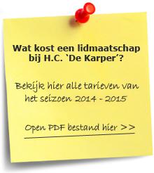 Lidmaatschap HC de Karper
